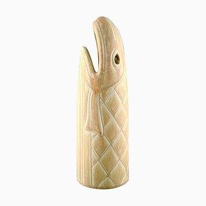 Rörstrand Steingut Fisch Vase Figur von Gunnar Nylund