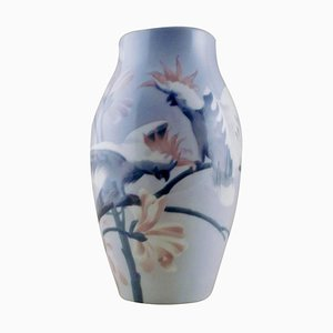 Karl Lindstrom for Rörstrand Unique Art Nouveau Vase in Porcelain