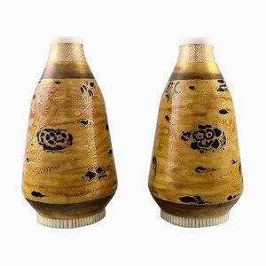 Japanese Porcelain Vases by Theodor Larsen for Royal Copenhagen, Late 19th Century, Set of 2