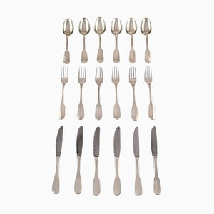 Hans Hansen Silver Cutlery Susanne in Sterling Silver, Set of 18