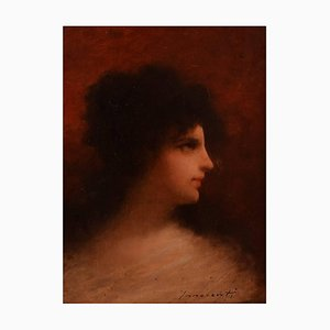 Portrait of Woman by Camillo Innocenti, Early 20th Century