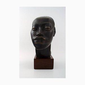 Femme Mangbetu Terracotta von Riccardo Scarpa