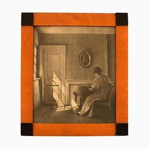 Gravure Interior with Woman Rare par Peter Ilsted, 20ème Siècle