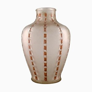 Art Deco Vase in Mouth Blown Art Glass by Lalique, 1920s