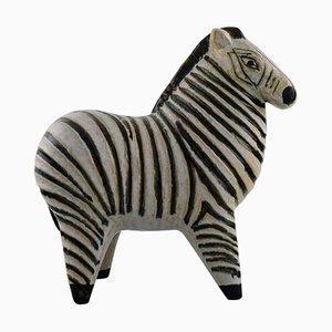 Rare Zebra in Ceramics by Lisa Larson for Gustavsberg
