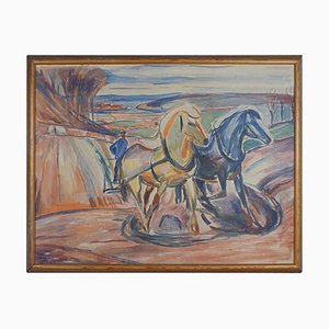 Spring Ploughing Blueprint No. 834 Limited Edition by Edvard Munch