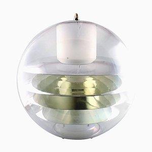 Große Vintage Plexiglas Deckenlampe im Stil von Poul Henningsen oder Verner Panton, 1950er