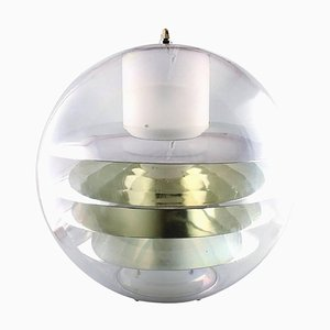 Prototype Large Plexiglass Ceiling Lamp in the Style of Poul Henningsen or Verner Panton, 1950s