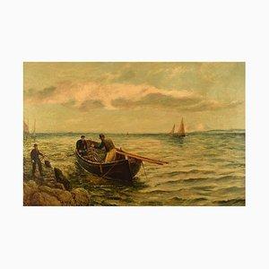 Bernard Benedict Hemy British Naval Painter Oil on Canvas