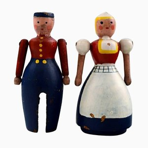 Dutch Husband and Wife by Kay Bojesen, 1940s, Set of 2