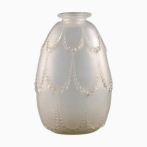 René Lalique Perles Vase in Mouth-Blown Art Glass