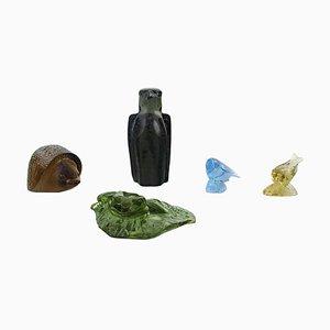 Art Glasfiguren von Paul Hoff für Svenskt Glas, 1970er, 5er Set