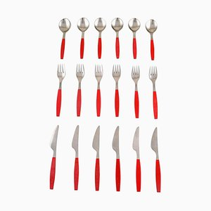 Strata Cutlery by Henning Koppel, 1970s, Set of 18