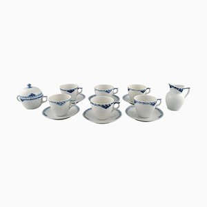Royal Copenhagen Blue Painted Princess, Coffee Cups with Saucers, 1970s, Set of 14