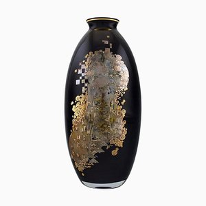 Large Goebel Vase in Porcelain with Gustav Klimt Motifs, Late 20th Century