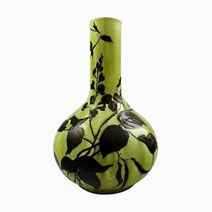 Art Nouveau Large Vase in Faience by Gunnar Wennerberg for Gustavsberg, 1897