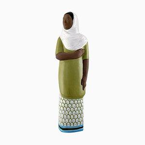 Mari Simmulson Indonesian Woman Ceramic Sculpture for Upsala-Ekeby