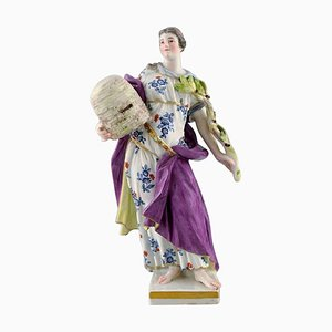 Meissen Porcelain Figurine Woman in Dress with Branches, 1899