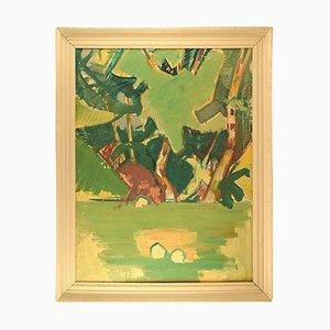 Toile de Paysage Abstraite Moderniste sur Toile par Hans Øllgaard