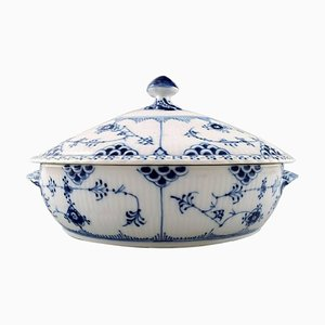 Royal Copenhagen Blue Fluted Full Lace Tureens 1/1129, Set of 2