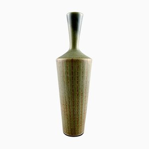 Hand Art Pottery Vase with a Narrow Neck by Berndt Friberg, 1964