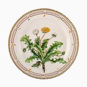 Royal Copenhagen Flora Danica Large Round Serving Dish Decorated with Dandelion