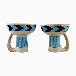 Modernist Hand-Painted Vases by Carl-Harry Stålhane for Rörstrand, 1960s, Set of 2