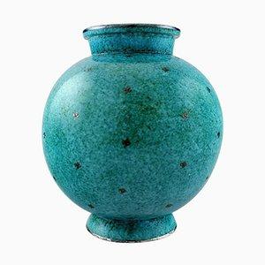 Argenta Large Art Deco Round Ceramic Vase by Wilhelm Kage for Gustavsberg