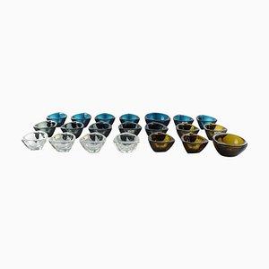 Art Glass Bowls by Kaj Franck for Nuutajärvi Glass Works, 1950s, Set of 21