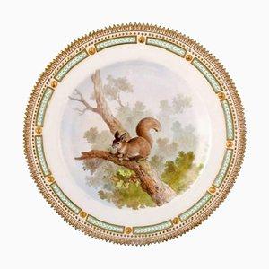Royal Copenhagen Flora Danica & Fauna Danica Dinner Plate with a Squirrel