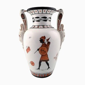Historicism Royal Copenhagen Vase in Egyptian Style, 1860s