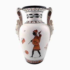 Historicum Royal Copenhagen Vase im ägyptischen Stil, 1860er