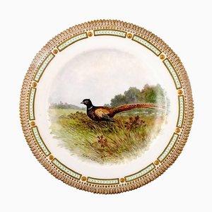 Royal Copenhagen Flora Danica & Fauna Danica Dinner Plate with a Pheasant