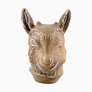 Goat Head Stoneware Figure by Gunnar Nylund for Rörstrand, 1950s