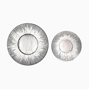Round Glazed Bowls from Kähler, 1930s, Set of 2