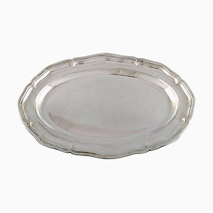 Large Danish Serving Dish in Silver, 1936