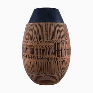 Large Granada Ceramic Vase in Modernist Design by Lisa Larson for Gustavsberg
