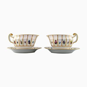 Royal Copenhagen Henriette Hand-Painted Porcelain Gravy Boats, Set of 2