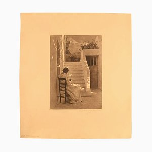 Peter Ilsted Italian Woman Etching, 1900s