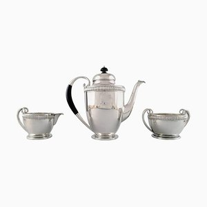 Jens Sigsgaard Silver Coffee Service, 1930s, Set of 3