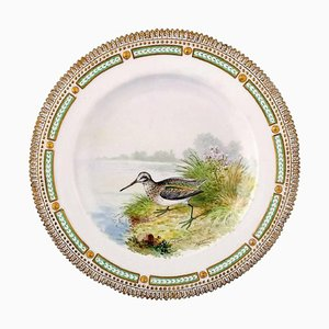 Royal Copenhagen Flora Danica & Fauna Danica Dinner Plate with Motive of a Bird