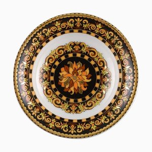Barocco Porcelain Bowl with Gold Decoration by Gianni Versace for Rosenthal