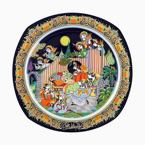 Christmas Plate in Porcelain by Wiinblad for Rosenthal, 1987