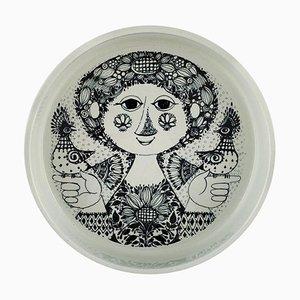Schale aus Glasierter Keramik von Bjorn Wiinblad für Nymølle, 1970er