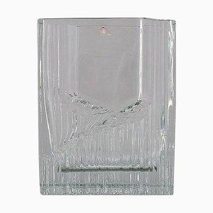 Finnish Clear Vase in Art Glass by Tapio Wirkkala for Iittala, 1960s