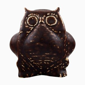 Owl Stoneware Figure in Glaze by Carl Harry Stålhane for Rörstrand