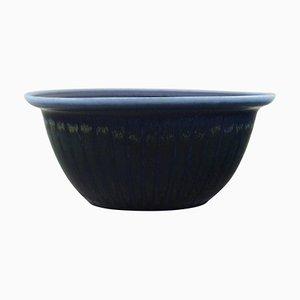 Schale aus glasierter Keramik von Gunnar Nylund für Rörstrand, 1960er