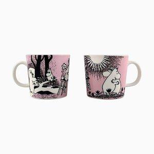 Tassen aus Porzellan mit Motiven von Moomin aus Arabien, 2er Set