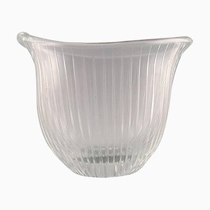 Clear Art Glass with Engraved Decoration by Tapio Wirkkala for Iittala, 1950s