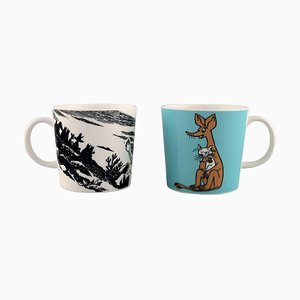 Arabia Finland Tassen aus Porzellan mit Motiven von Mumin, spätes 20. Jahrhundert, 2er Set